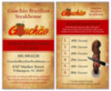 Biz Card - Gauchao Brazilian Steakhouse.