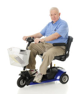 Scooter with Elderly Man