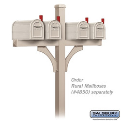 Mailbox - Accessory Pedestal for 4 Residential Boxes