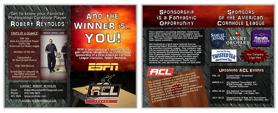 Brochure - Rob Reynolds Cornhold Sponsor