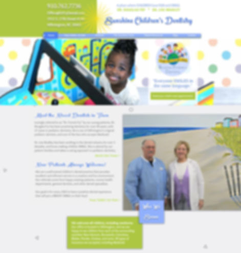 Web Design - Sunshine Children's Dentist