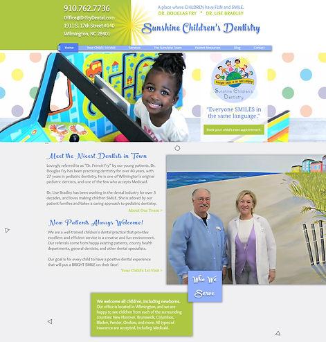 Web Design - Sunshine Children's Dentist