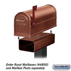 Mailbox - Residential Post Mounted Newspaper Holder
