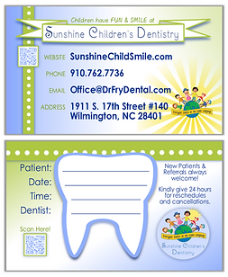 Biz Card - Sunshine Children's Dentistry