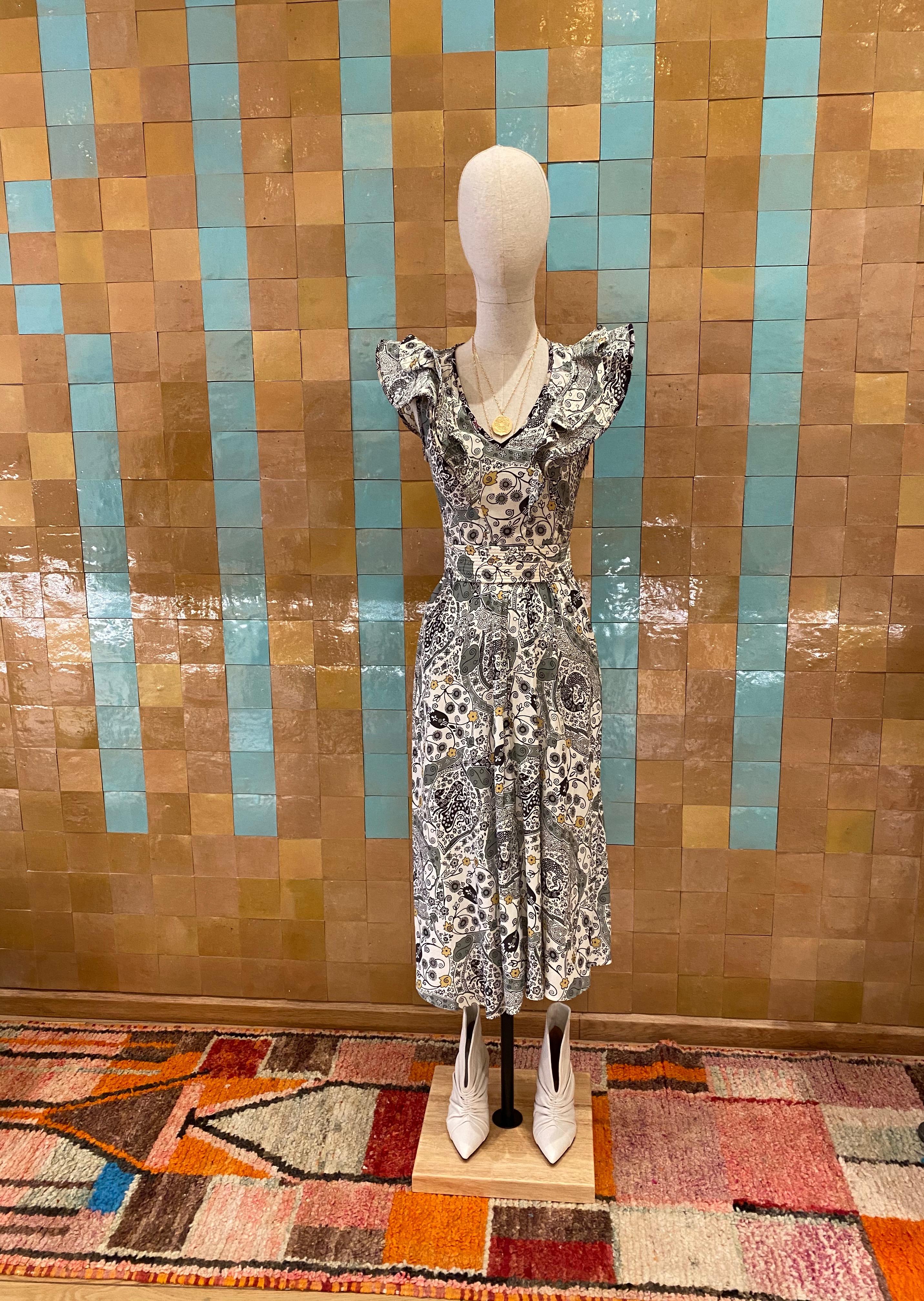 Robe mi-longue imprimé Isabel Marant étoile