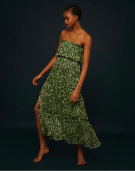 Robe longue bustier verte Soeur
