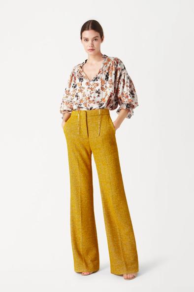 Chemise et pantalon moutarde Victoria Beckham