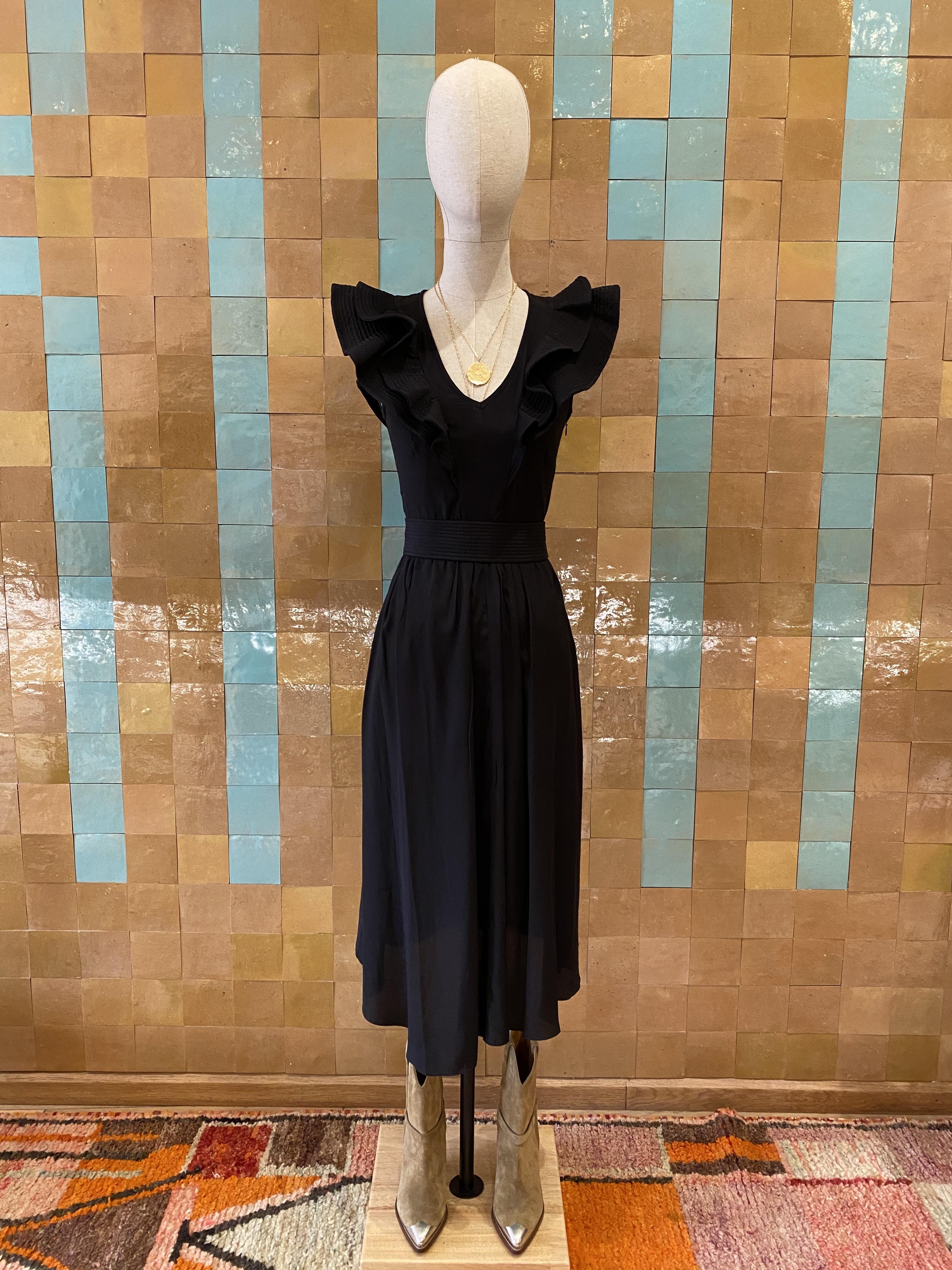 Robe noire mi-longue Isabel Marant étoile