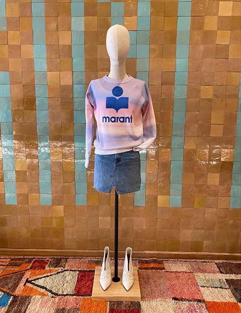 Sweatshirt Milly Baby avec logo Isabel Marant Etoile, couleur tie&dye pink