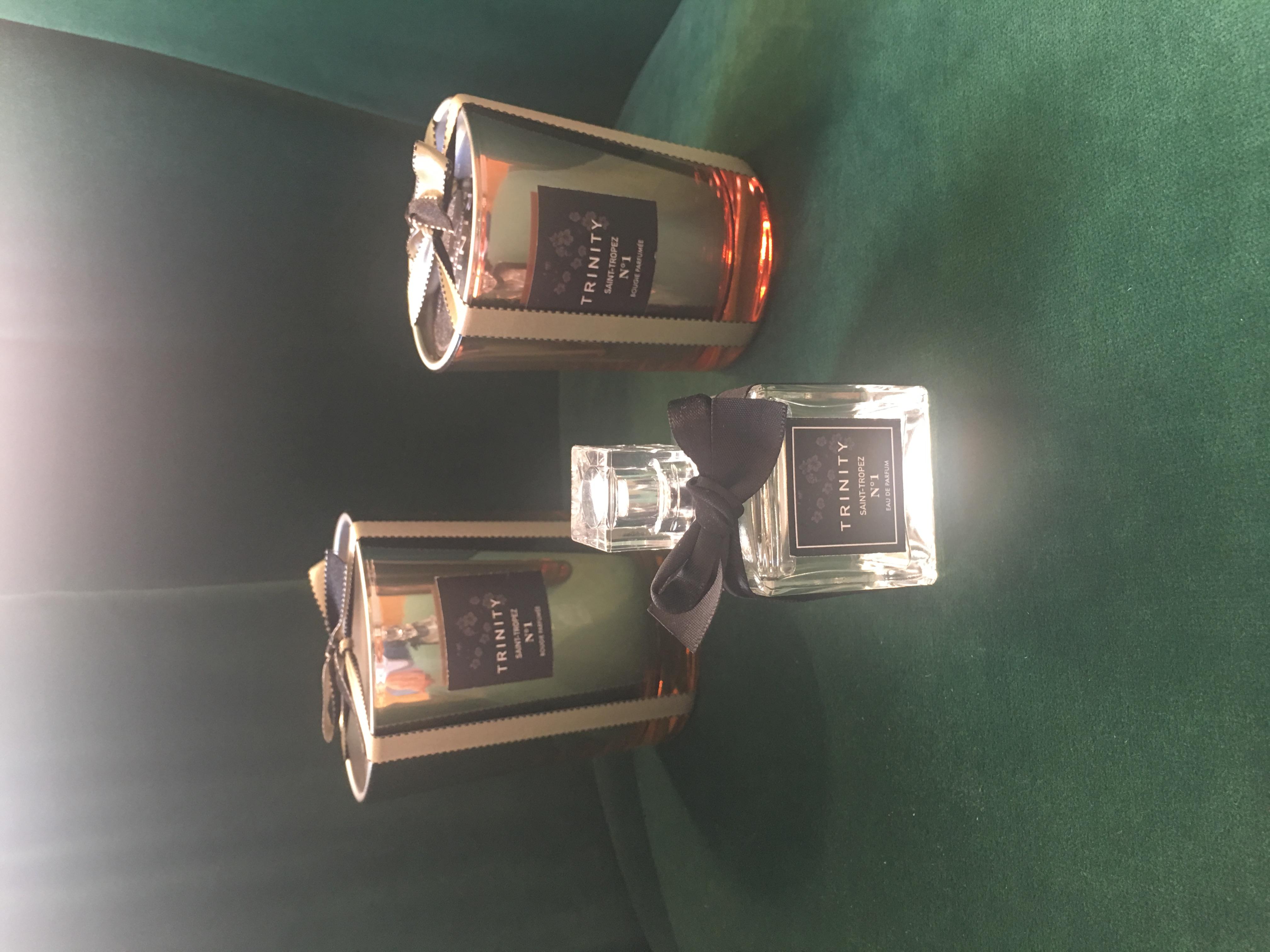 Bougies trinity saint-tropez et parfums trinity saint-tropez n°1 et n°2