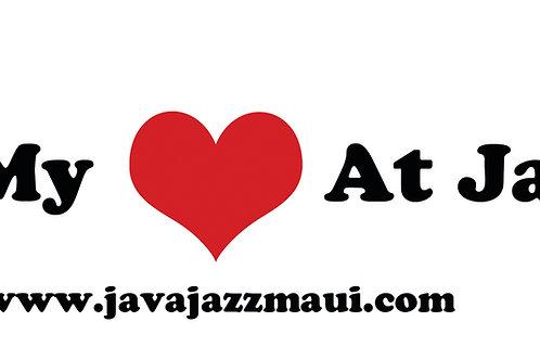I Left My Heart At JavaJazz Bumper Sticker