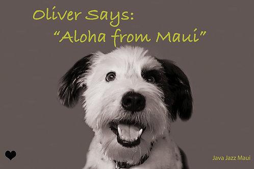 """Oliver Postcard: """"Aloha from Maui"""""""