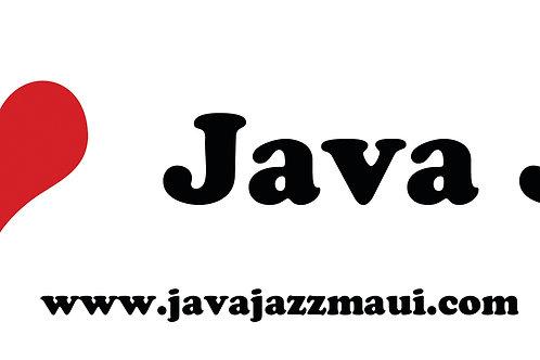 I Heart JavaJazz Bumper Sticker