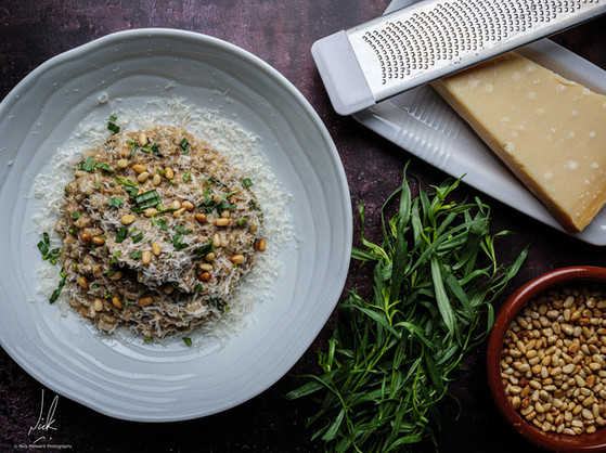 Mushroom and Roasted Pine Nut Risotto
