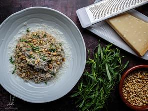 Mushroom and Roasted Pine Nut Risotto