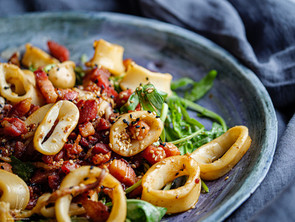 Squid And Bacon Salad