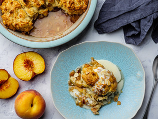 Apple and Peach Cobbler