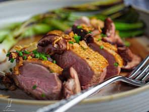 Duck With Pickled Mushrooms