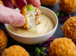 Stickey Rice and Crab Fritters
