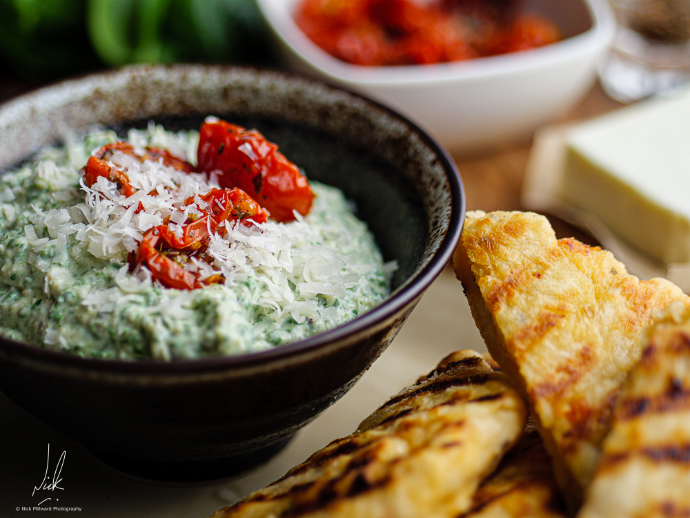Artichoke and Spinich Dip with Feta Flat