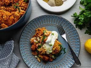 Chicken and Prawn Brown Rice Jambalaya