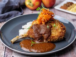 Pork Chops with Tonkatsu Sauce