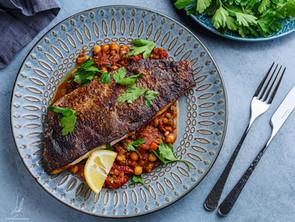 Moroccan Spiced Sea Bass