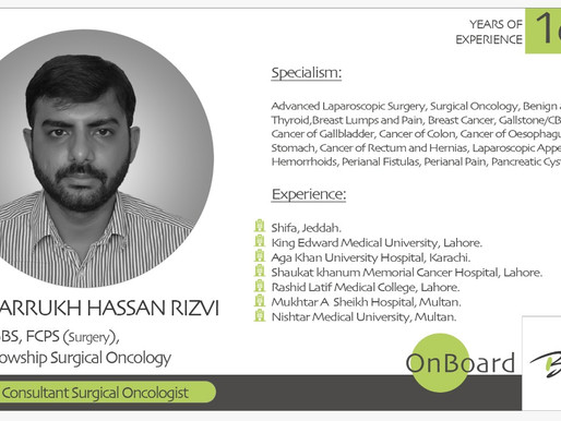 OnBoard | Dr. Farrukh Hassan Rizvi |  Consultant Surgical Oncologist