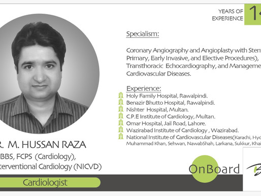 OnBoard | Dr. M. Hussan Raza |  Consultant Cardiologist