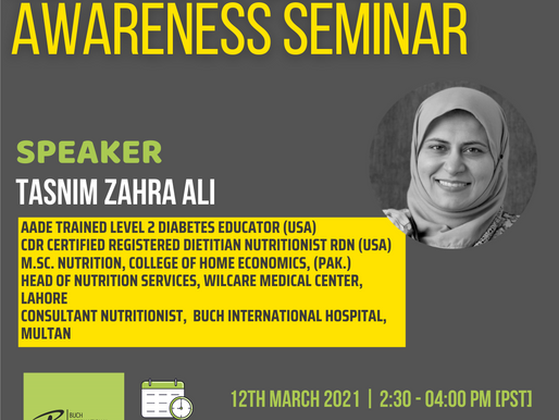 Nutrition Public Awareness Seminar at Wilcare, Lahore