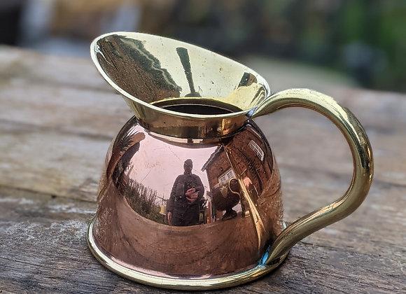 Copper and brass jug