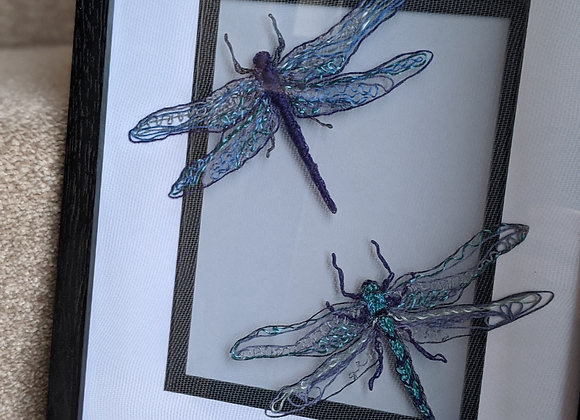Double Dragonfly Embroidery