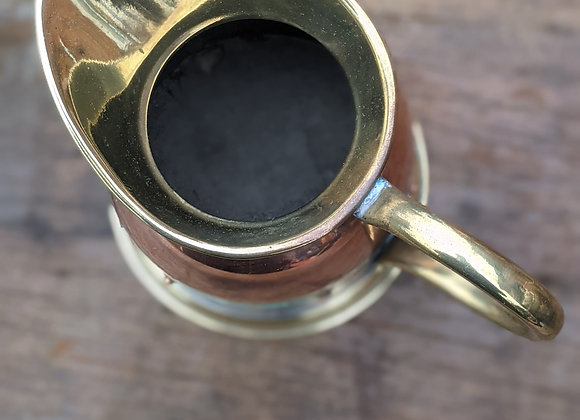 Copper and Brass jug with rivets
