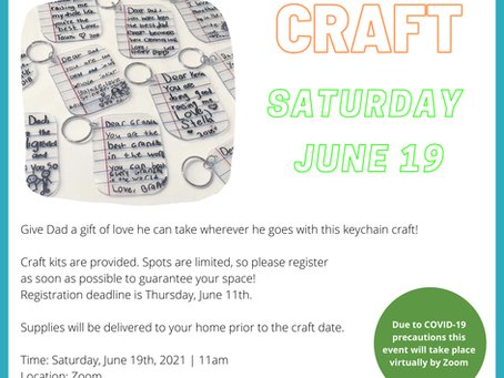 Father's Day Virtual Craft Event - June 19, 2021