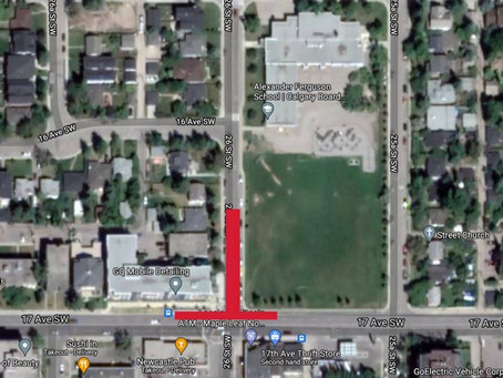17 Avenue SW and 26 Street SW Intersection Closure