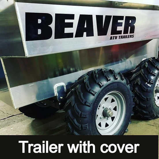 tandem walking beam tub trailer (with heavy duty ratcheting cover)