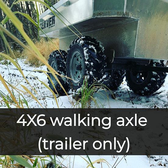 tandem walking beam tub trailer (no cover)