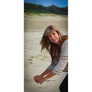 Michelle taking Photos at the beach by Drift n Tides Australian Art