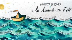 Concerts dessinés : la tournée de l'été