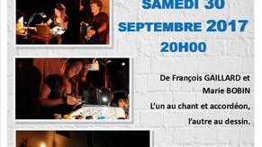 30/09/17 : Concert dessiné au Centre Culturel de Fontlozier, VALENCE (26)