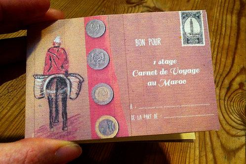 Bon pour un stage carnet de voyage au Maroc