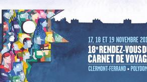 Ma présence à Clermont-Ferrand pour le Rendez-vous du Carnet de Voyage 2017!