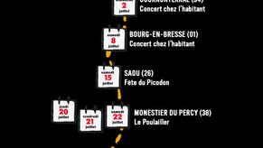 tournée d'été du Concert Dessiné