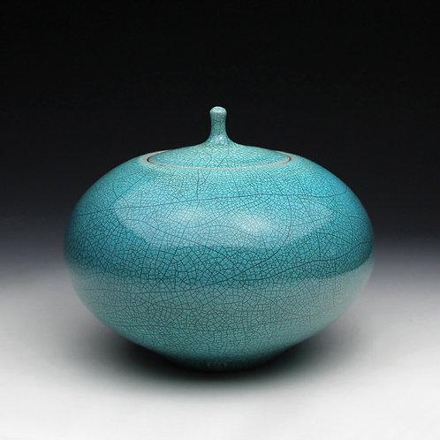 Turquoise Lidded Jar