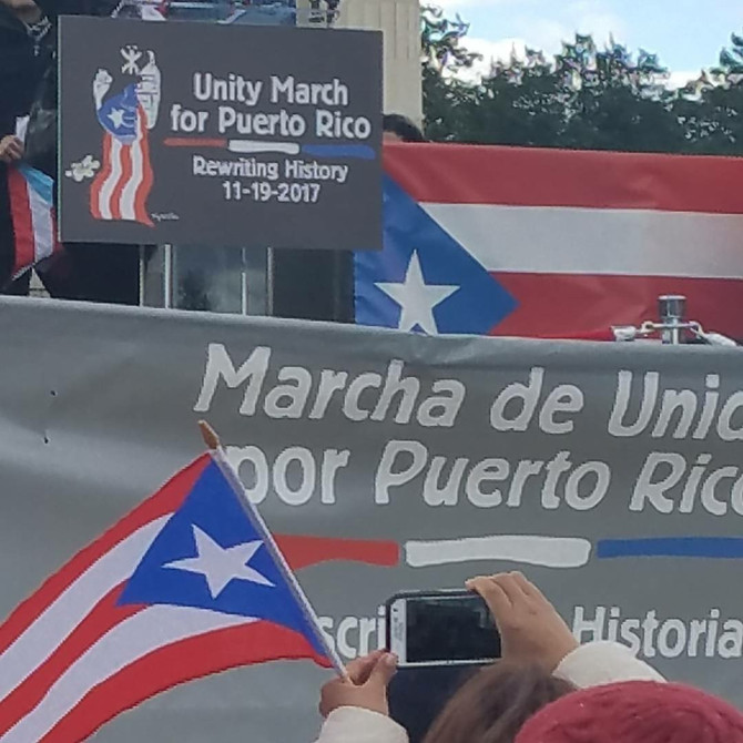 Activist Standing for Puerto Rico