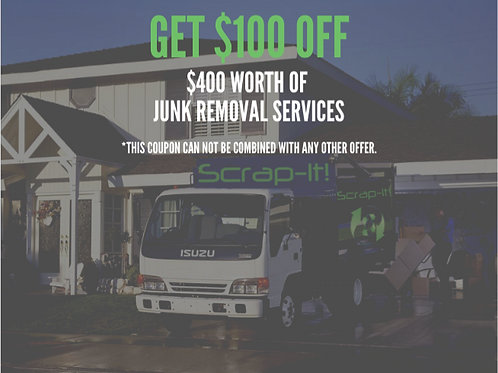 Junk Removal Coupon - $100 OFF