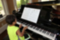 Easier for boy to see piano music | Grand Stand for Piano