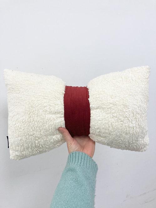 Sierkussen - strik/rood