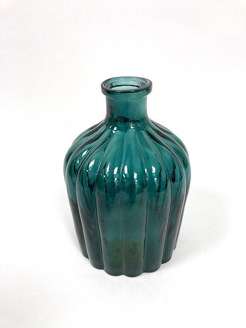 Vaasje - turquoise/glas