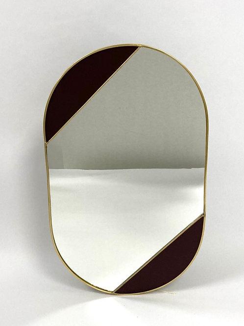 Spiegel - goud/bordeaux